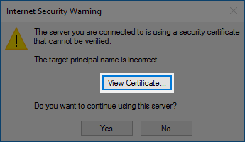 Outlook View Certificate