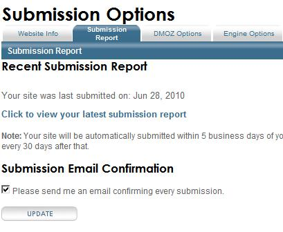Submission reports