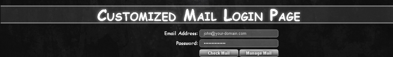 Custom mail login