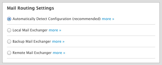 New Account Email Routing Settings