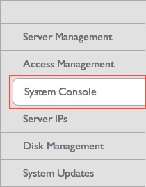 Server System Console