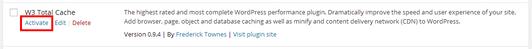 Activate the plugin in WordPress