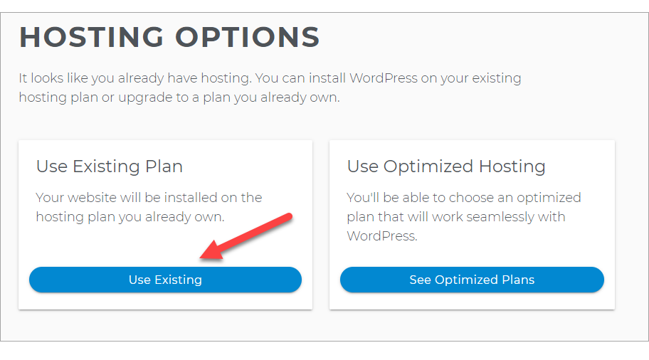 Use Existing