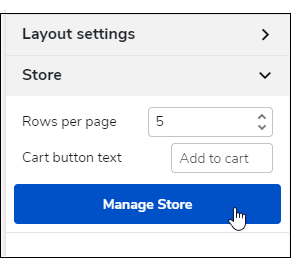 Click the Manage Store button.