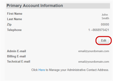 Edit primary email address