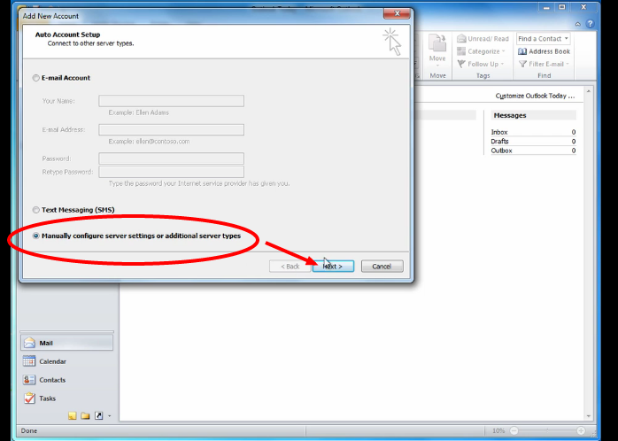 Netfirms Knowledgebase Articles- email-client-setup-outlook-2010